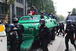اعتراضات به نشست جی 20 در آلمان