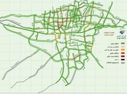 جزئیات ترافیک در خیابان های پایتخت/۴ بزرگراه پرتردد