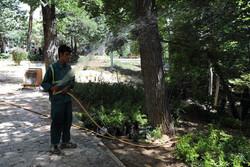 آبیاری باغ های شمال تهران