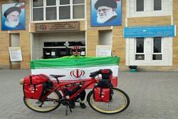 İranlı genç bisikletçiden Türkiye-Kafkasya turu