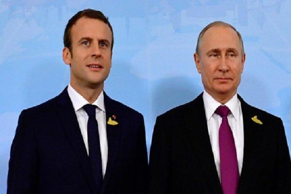 گفتگوی تلفنی پوتین و ماکرون درباره سوریه