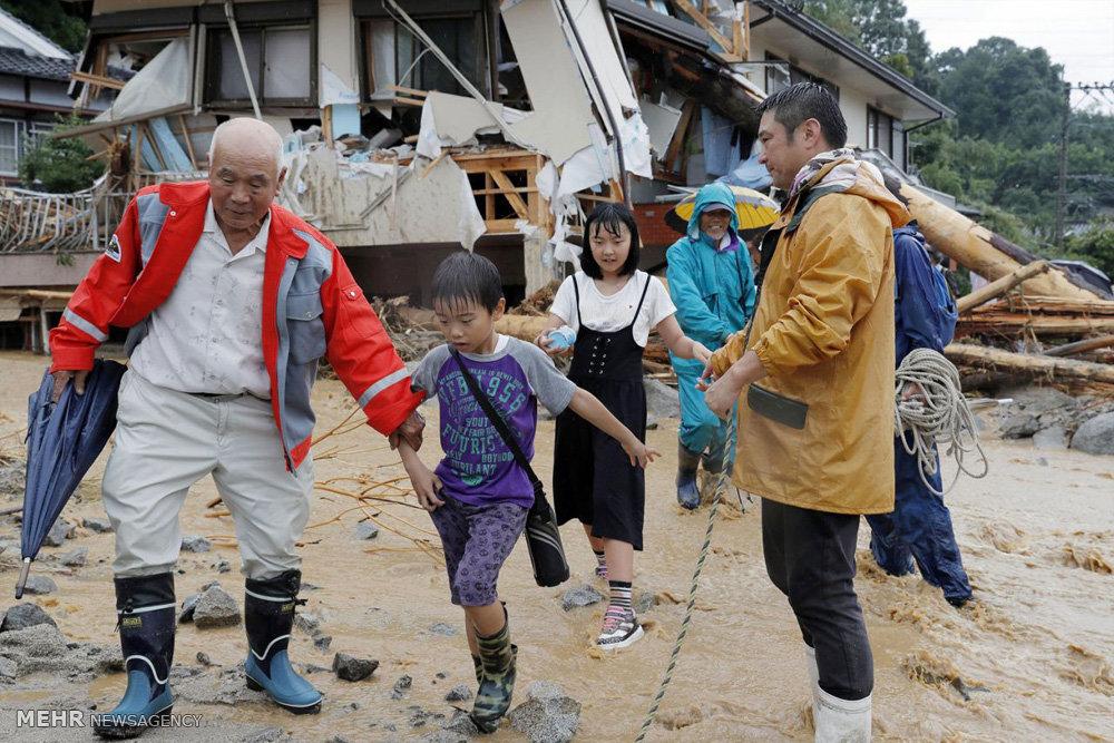 سیل ویرانگر در ژاپن