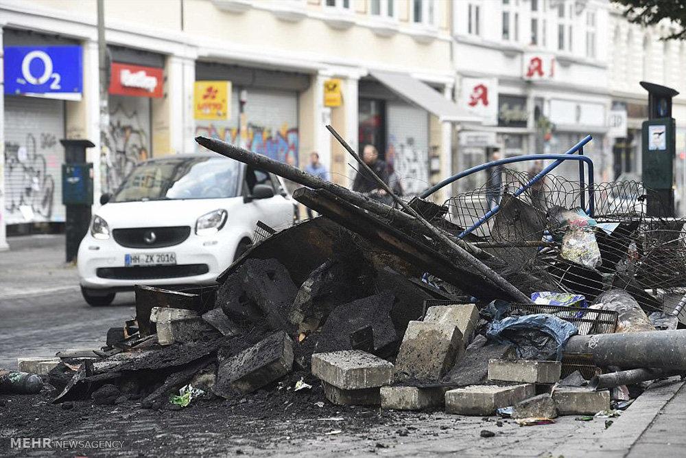 دومین شب درگیری ها در هامبورگ