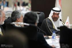 کیومرث هاشمی و شیخ احمد رئیس شورای المپیک آسیا