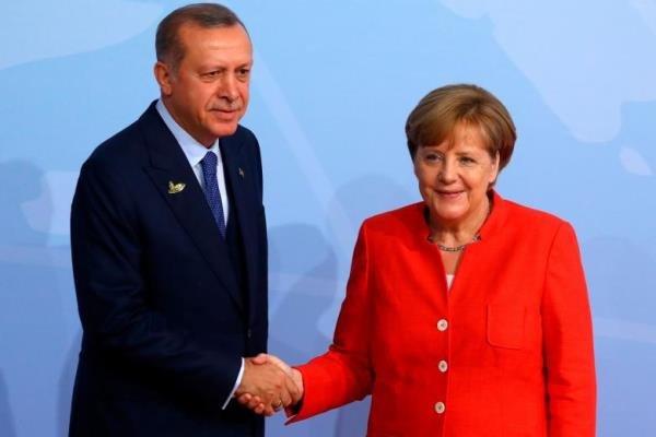 در گفتگویی تلفنی؛ اردوغان و مرکل بر حفظ تمامیت ارضی سوریه تاکید کردند
