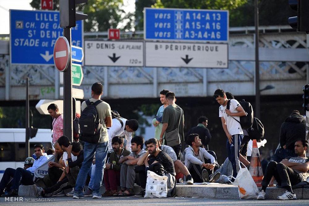 تخلیه کمپ پناهجویان در پاریس