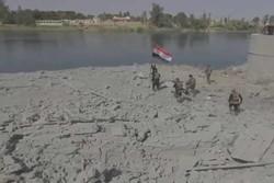 Irak bayrağının Musul'un binalarına asıldığı an