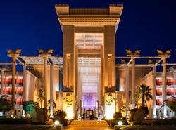 An exterior view of Dariush Hotel on Kish Island, southern Iran