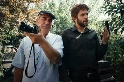 "Ebrahim Hatamikia (L) directs Babak Hamidian in a scene from ""The Bodyguard""."