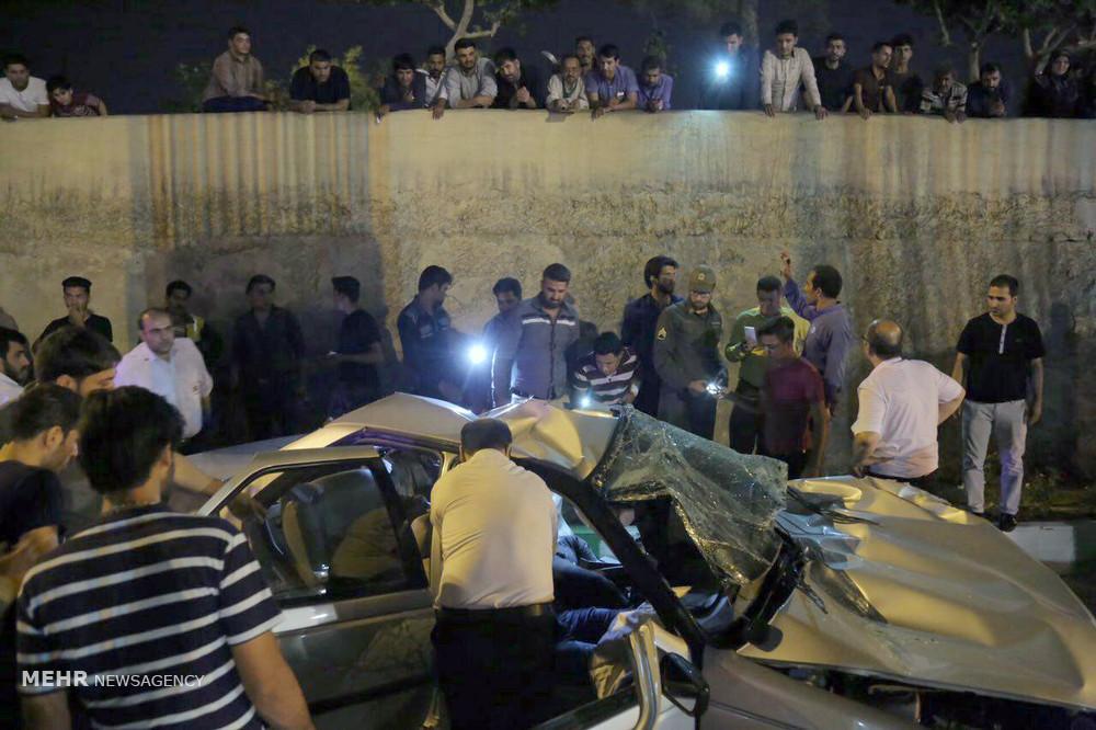 عکس تصادف مرگبار عکس تصادف دلخراش عکس پژو پارس حوادث قم اخبار تصادف