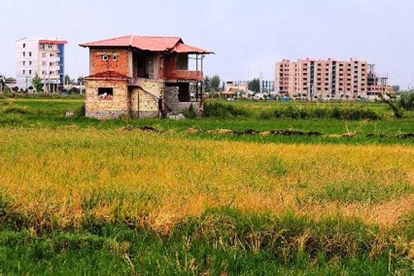 قلع و قمع بیش از ۱۰۰ بنای غیرمجاز در  اراضی کشاورزی گیلان