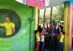 رونمایی از دیوار نقاشی در مرکز فرهنگی هنری آباده