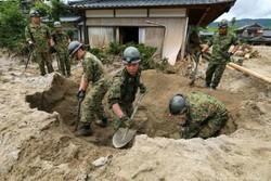تلفات سیل در ژاپن به ۲۵ نفر افزایش یافت