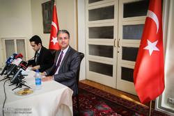 Türk Büyükelçi'nin basın toplantısından kareler