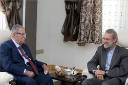 لاريجاني يستقبل طالباني في مستهل زيارته للعاصمة طهران