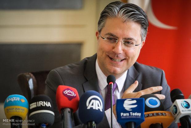 نشست خبری سفیر ترکیه در تهران