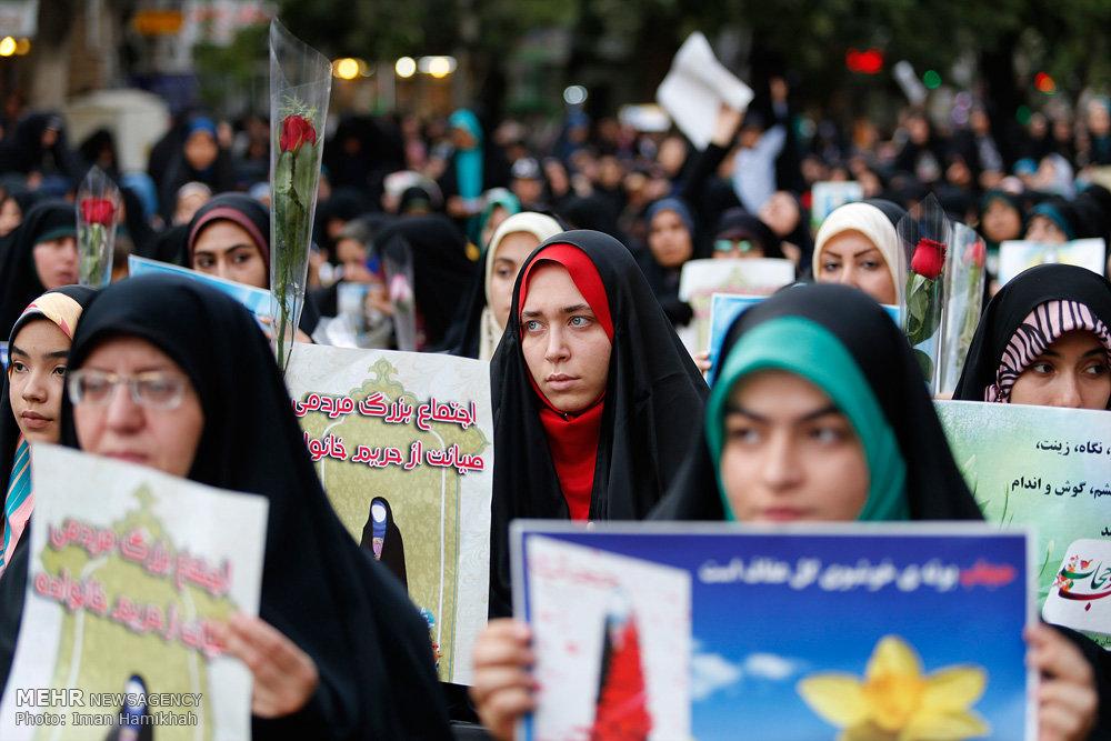 تجمع بزرگ بانوان همدانی با موضوع عفاف و حجاب