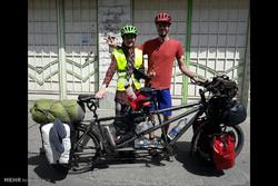 Bisikletçi turistlerden Astara ziyareti