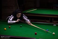 Female snooker team campaign in Qazvin