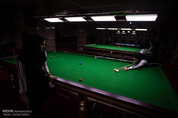 مخيم تدريبي للمنتخب الوطني للسنوكر لسيدات ايران