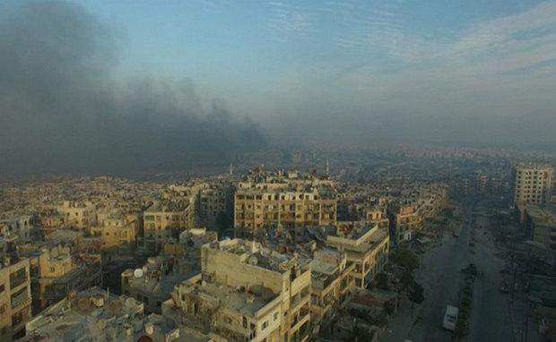 """انفجار يهز مبنى فرع حزب """"البعث"""" في مدينة حلب"""