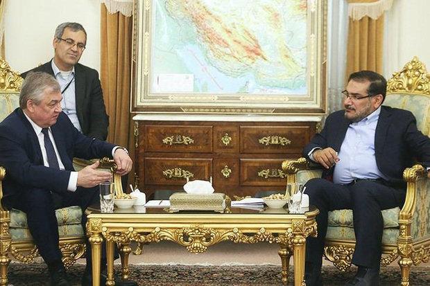 Russian envoy updates Shamkhani on Syrian developments