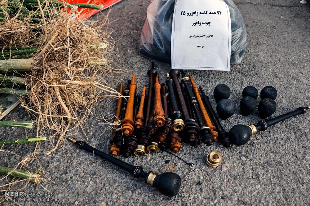 نمایشگاه دستاوردهای پلیس در طرح پاکسازی شهرستان کرمان