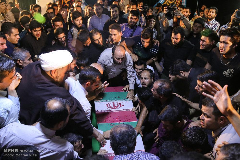مراسم وداع با پیکر شهید بهرام مهرداد