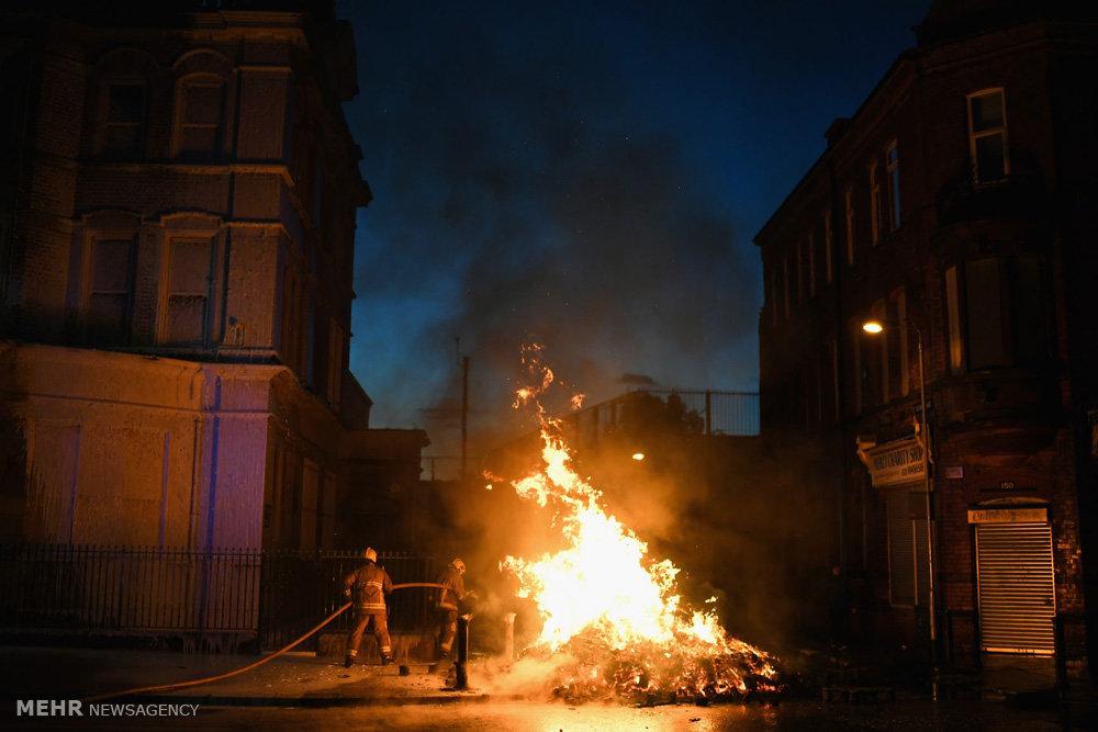 سنت روشن کردن آتش در ایرلند شمالی
