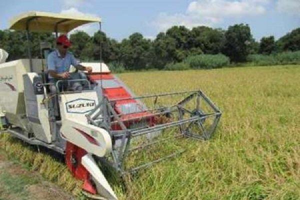 نخستین برداشت مکانیزه برنج در استان گیلان انجام شد