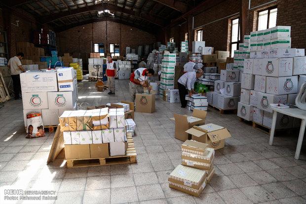 تحميل الشحنة الطبية والعلاجية الخاصة بالحجاج الايرانيين