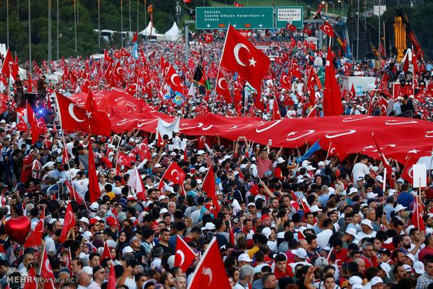 Türkiye'deki 15 Temmuz'u anma töreninden kareler