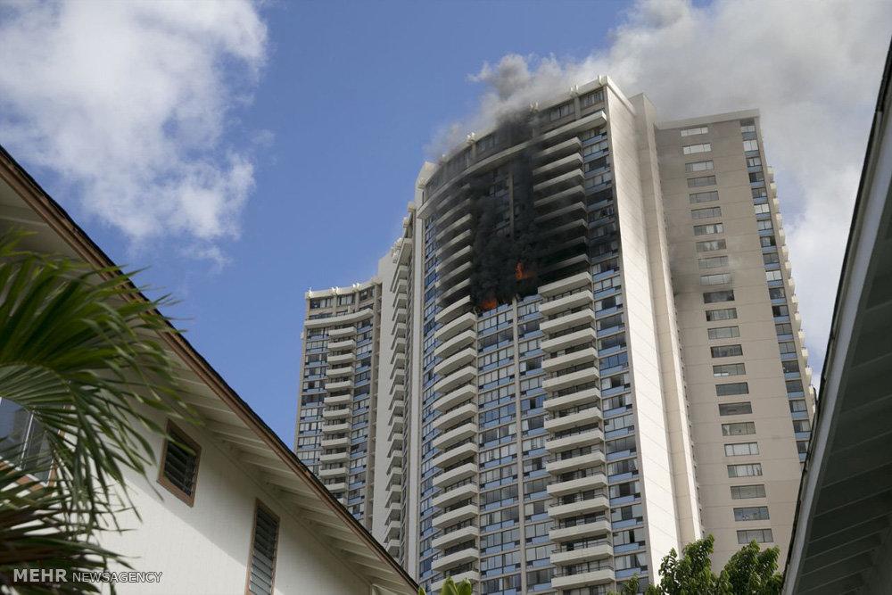 آتش سوی در برجی در آمریکا