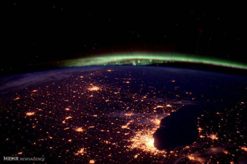 تصاویر فضانورد آمریکایی از زمین