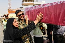تشییع شهید گمنام در ستاد فرماندهی نیروی انتظامی شرق استان تهران