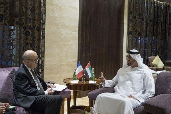 وزیر خارجه فرانسه با ولیعهد ابوظبی دیدار کرد