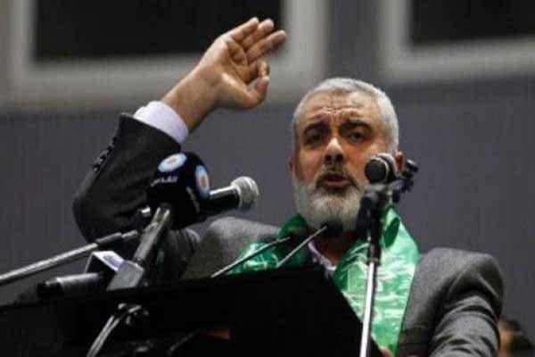 اسماعیل هنية يعزي الرئيس الإيراني بضحايا زلزال کرمانشاه