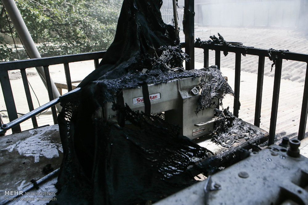 آتش سوزی در انبار کالا در میدان بهارستان