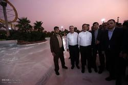آیین افتتاح 7 پروژه بزرگ صنعتی، عمرانی و گردشگری در جزیره کیش