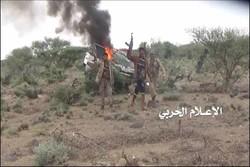 عملیات یمنی ها ضد مزدوران آل سعود/تداوم یورش های هوایی آل سعود به مناطق مختلف یمن
