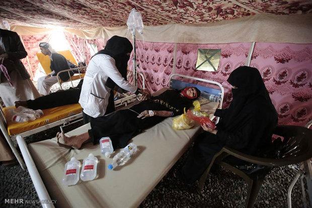 گسترش وبا در یمن