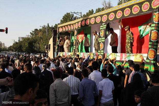 مراسم استقبال از شهدای گمنام در سیرجان