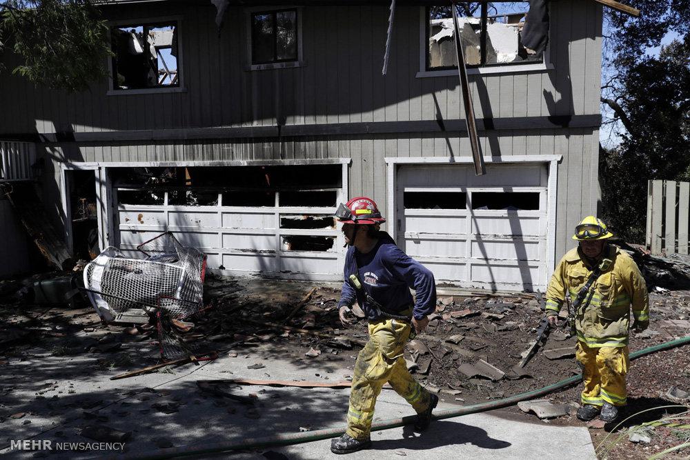آتش سوزی گسترده در کالیفرنیا