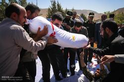 تشییع پیکر شهید گمنام در دهکده مقاومت تهران
