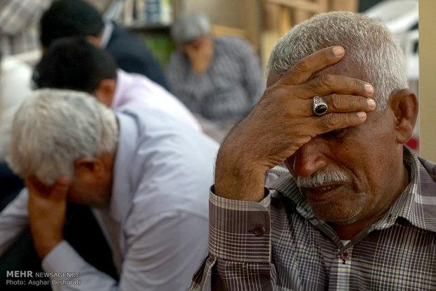 تشییع پیکر شهدای گمنام در قشم