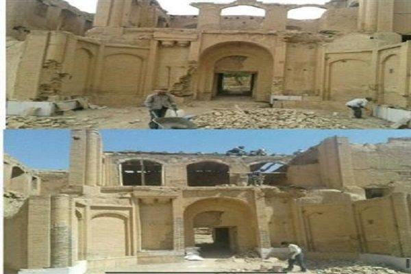 طرح مرمت اضطراری قلعه رشیدالدوله تکاب به اتمام رسید