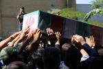 پیکر مطهر شهید «حبیب اسلامی» در بیله سوار تشییع شد