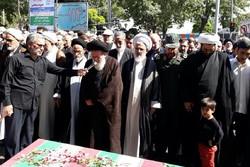 پیکر شهید حمید مرادلو تشییع و تدفین شد