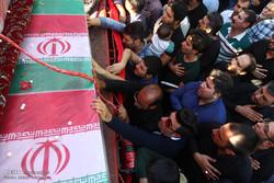 مراسم تشییع بیست شهید دوران دفاع مقدس در اصفهان