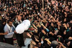 تشییع و خاک سپاری پیکر مطهر دو شهید گمنام در شهرستان لامرد